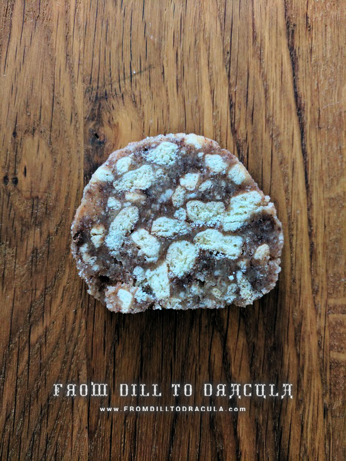 Salam de Biscuiti {No-Bake Chocolate Salami Roll} | From Dill To Dracula www.FromDillToDracula.com